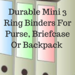 Mini 3 Ring Binder