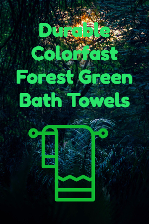 Forest Green Bath Towels
