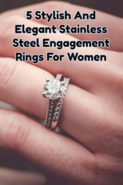 Stainless Steel Engagement Rings For Women